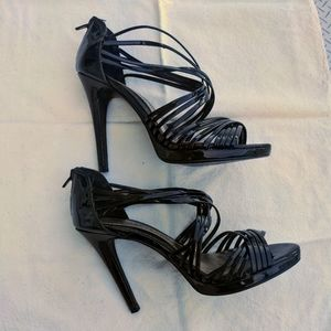 Chinese Laundry strappy sexy black high heels